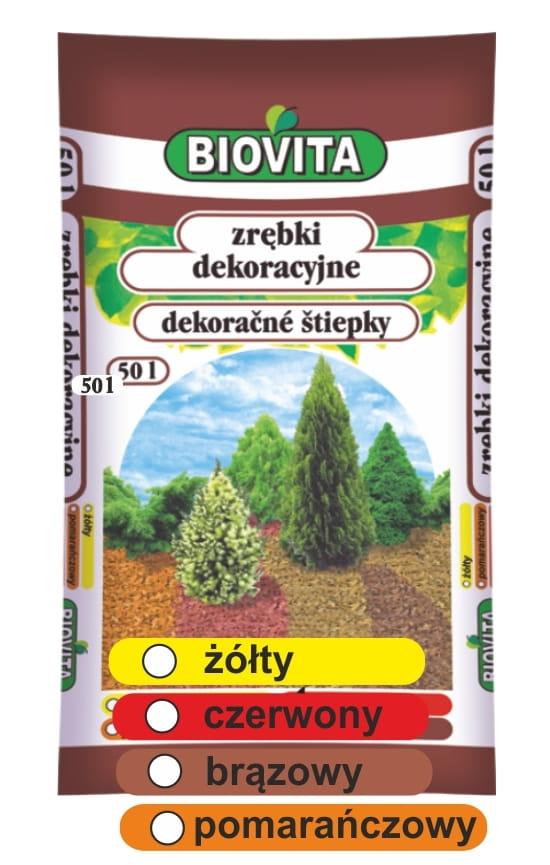Zrębki Dekoracyjne Kolorowe Biovita 50l